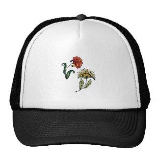 Stylized Flowers Hats