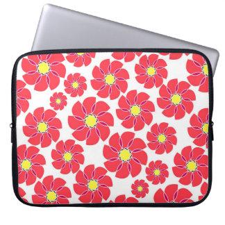 Stylized Flowers Laptop Sleeve