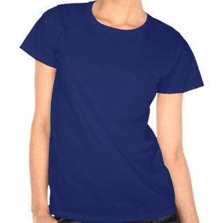 Stylized graphic ragged poppies blue purple grey tshirts