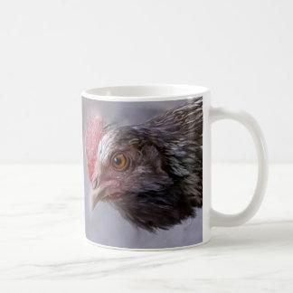 Stylized Grey Hen Mug