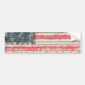 Stylized Grunge USA Flag Bumper Stickers