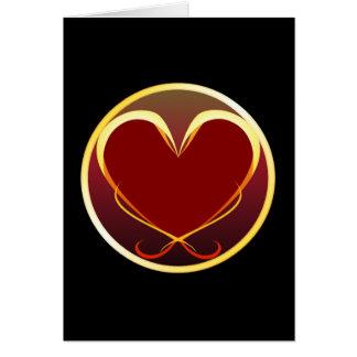 Stylized Heart Card
