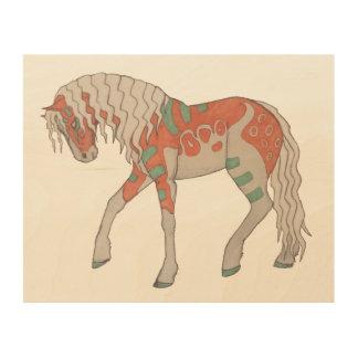 """Stylized Horse 10""""x8"""" Wood Wall Art"""