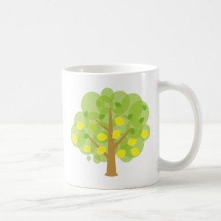 Stylized Lemon Tree Basic White Mug