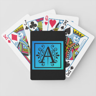Stylized Letter A Bicycle Playing Cards