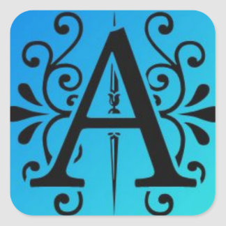 Stylized Letter A Square Sticker