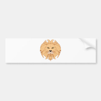 Stylized Lion Head Bumper Sticker