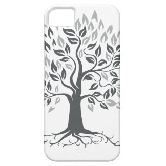 Stylized Oak Tree with Roots Retro Barely There iPhone 5 Case