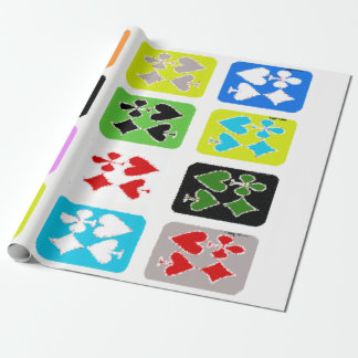 Stylized poker cards Gift Wrap
