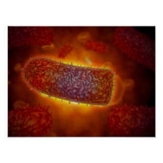 Stylized Rabies Virus Particles 2 Poster
