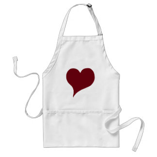 Stylized Red Heart Standard Apron