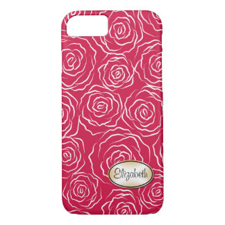 Stylized Rose Garden Pattern | iPhone 7 case