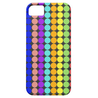 Stylized round flowers (white background) iPhone 5 covers