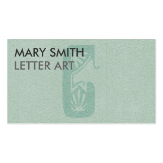 "Stylized Soft Green Letter ""C"" Business Card"