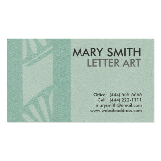 "Stylized Soft Green Letter ""O"" Business Card"