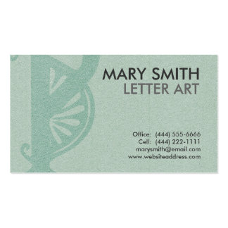 "Stylized Soft Green Letter ""P"" Business Card"