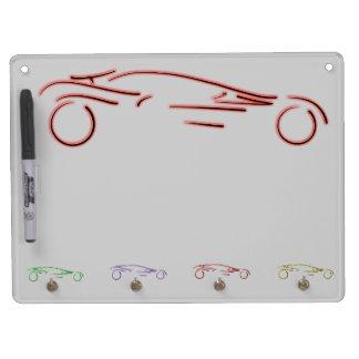 Stylized Sportscar - glowing red neon auto design Dry-Erase Whiteboards