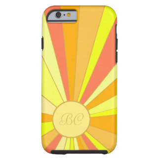 Stylized Sun Design Tough iPhone 6 Case
