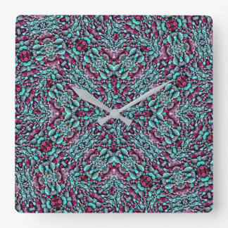 Stylized Texture Luxury Ornate Square Wall Clock