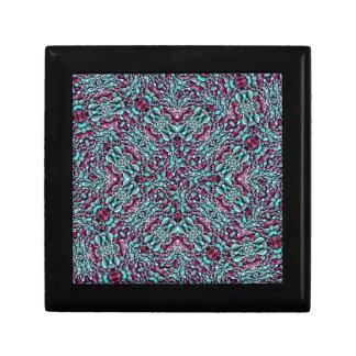 Stylized Texture Pattern Mosaic Gift Box