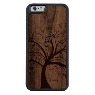 Stylized Tree Wooden iPhone 6 Case Walnut iPhone 6 Bumper Case