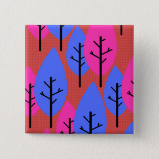 Stylized trees 15 cm square badge