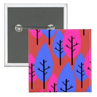 Stylized trees 15 cm square badge