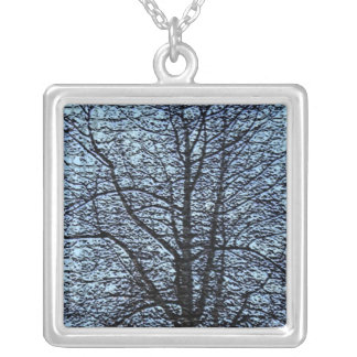 Stylized Trees Necklace