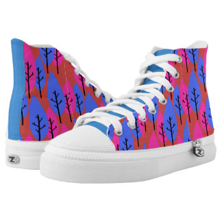 Stylized trees printed shoes