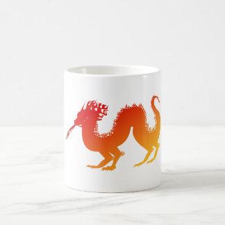Stylized Vibrant Fire Dragon Spewing Flames Mugs