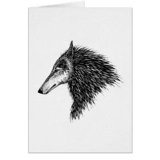 Stylized Wolf Card