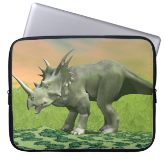 Styracosaurus dinosaur - 3D render Laptop Sleeve