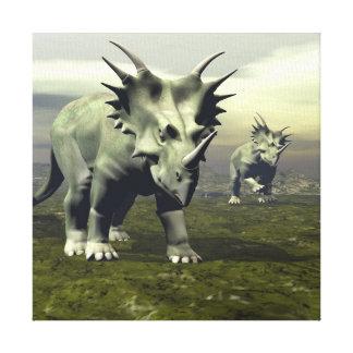Styracosaurus dinosaurs - 3D render Canvas Print