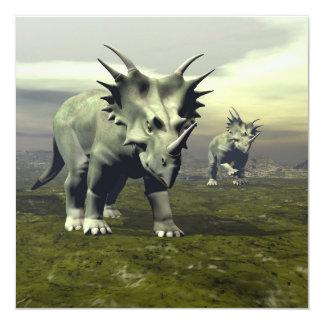 Styracosaurus dinosaurs - 3D render Card