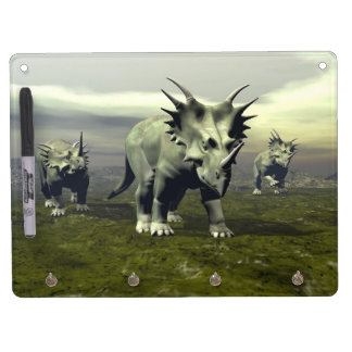 Styracosaurus dinosaurs - 3D render Dry Erase Board With Key Ring Holder