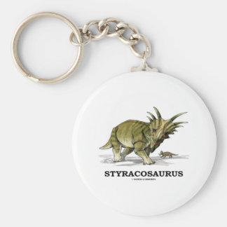 Styracosaurus Basic Round Button Key Ring