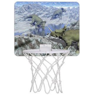 Styracosaurus near water- 3D render Mini Basketball Hoop