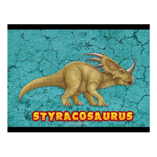 Styracosaurus postcard