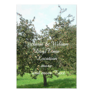 "Styrian Apple Trees,Austria 5"" X 7"" Invitation Card"