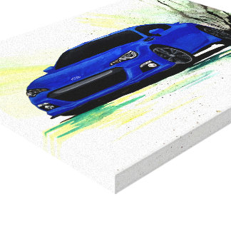 Subaru BRZ Watercolor Painting Canvas Print