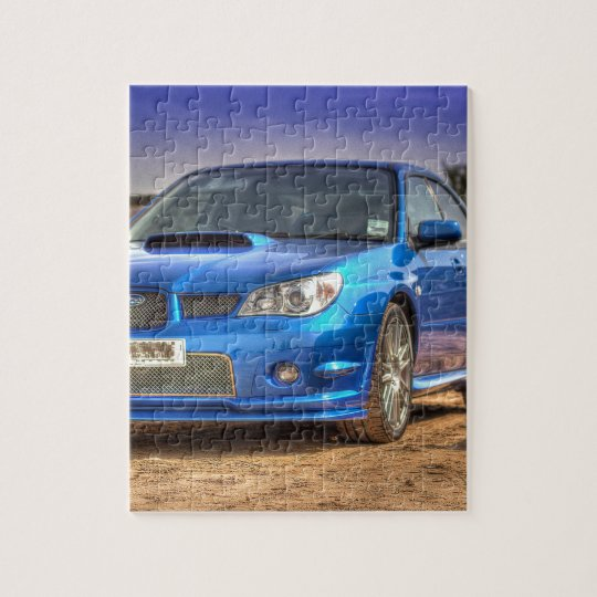 "Subaru Impreza STi ""Hawkeye"" in Blue Jigsaw Puzzle"
