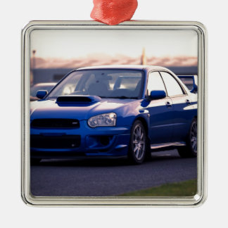 Subaru Impreza WRX STi Metal Ornament