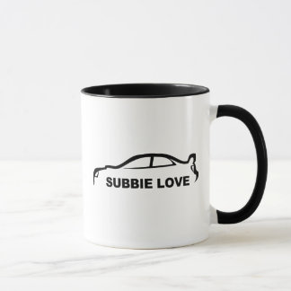 """Subaru STI """"Subbie Love"""" Silhouette Mug"""