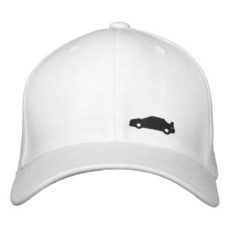 Subaru Wrx car silhouette white hat black logo Embroidered Hats