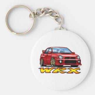 Subaru WRX_red Basic Round Button Key Ring