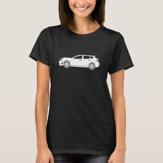 Subaru WRX STI Outline T-Shirt Dark Womens