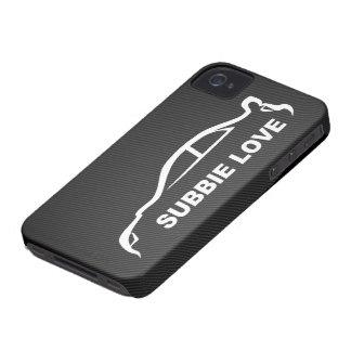 Subbie Love White Silhouette Logo iPhone 4 Case-Mate Case