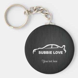 Subbie STI Key-Chain Basic Round Button Key Ring