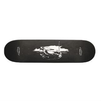 Subbie with Faux  Carbon Fiber Skate Board