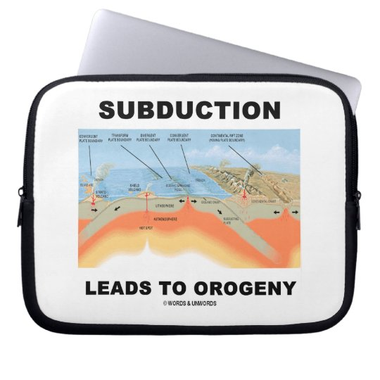 Subduction Leads To Orogeny (Plate Tectonics) Laptop Sleeve